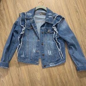 Bagatelle Ruffled Denim Jacket